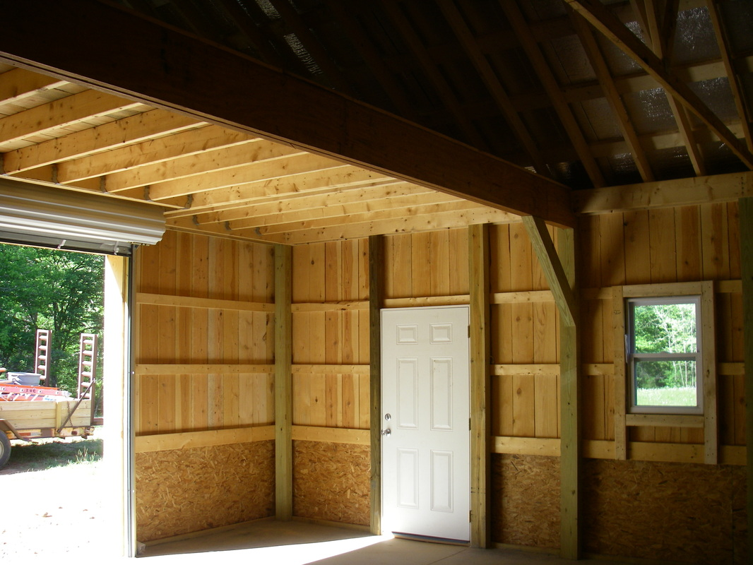 Pictures of pole barn interior in metal joy studio for 24x30 garage cost