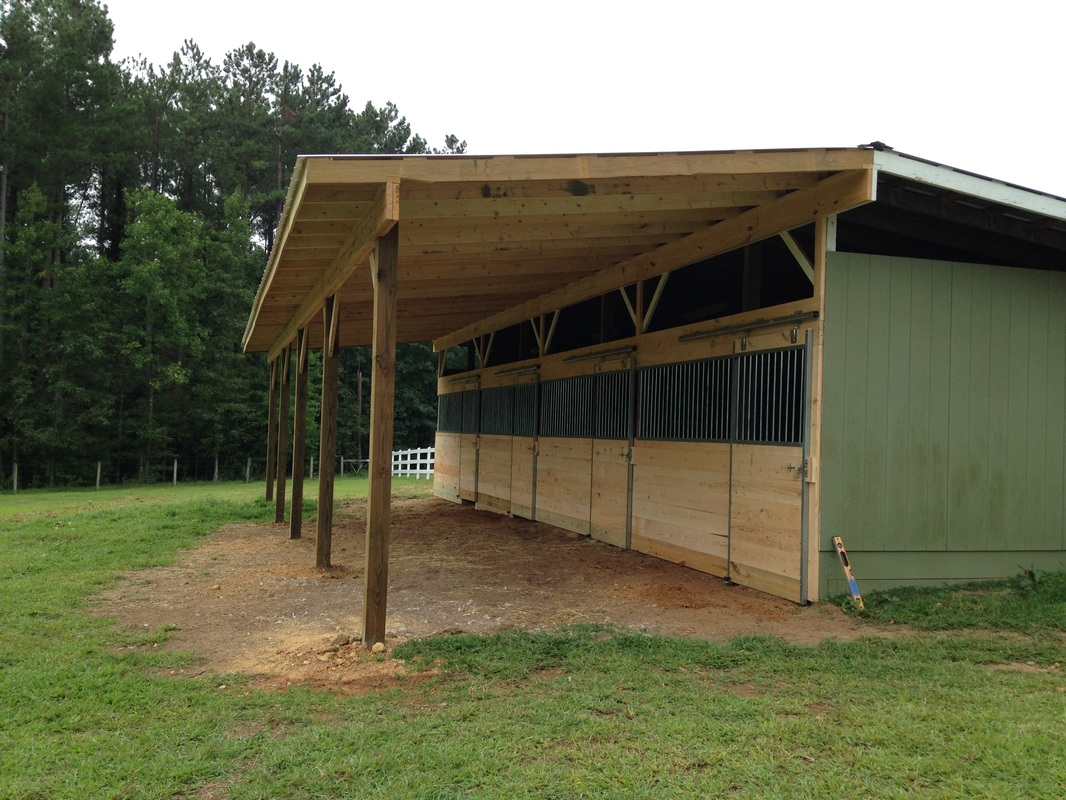 Horse stalls z n cobb builders for Lean to barn