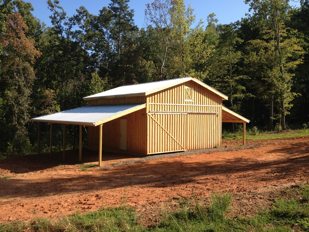 Horse barns for Lean to barn
